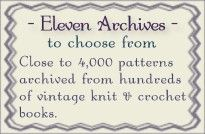 Knit and crochet vintage pattern archives - Close to Free Patterns. Crochet Books, Love Crochet, Crochet Crafts, Crochet Yarn, Crochet Projects, Knitting Projects, Crochet Ideas, Knitting Stitches, Crochet Stitches Patterns