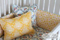 Nursery Accessories by MissPollysPieceGoods on Etsy https://www.etsy.com/listing/74885291/crib-bedding-nursery-accessories?ref=shop_home_active_9 #pillow #yellow #bee #nursery #custom #misspolly