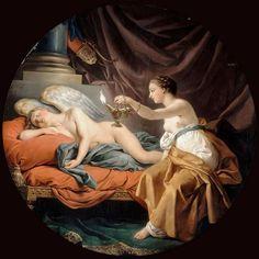 Louis-Jean Lagrenée - Psyche Surprising Sleeping Cupid [1768]