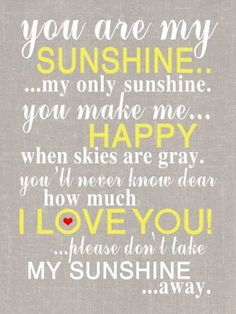 : You are my Sunshine Canvas ...