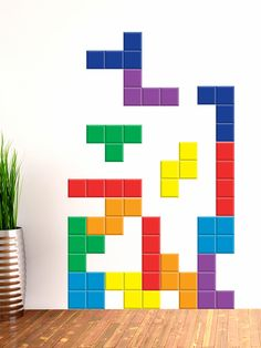 Falling Bricks Wall Decals (60 PC) by Walls Need Love at Gilt
