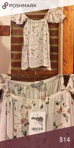 Adorable Floral Shirt NWT. Perfect for spring and summer! 100%Rayon. Feel free to make an offer Charlotte Russe Tops Blouses