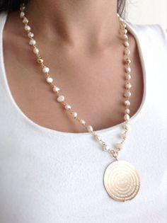 collares largos de perlas - Buscar con Google