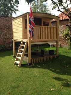 Custom Made Tree House Play Hut Garden Office On Stilts Sheds, Teenager Hangout in Toys & Games, Outdoor Toys & Activities, Playhouses | eBay