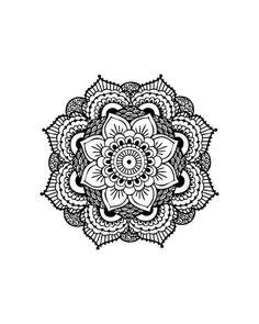 Mandala Tattoo, Black Mandala, Henna Mandala Temporary Tattoo (Set of 2) from myTaT on Etsy.