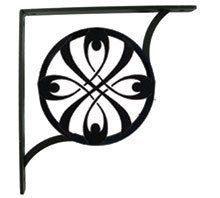 Ribbon Shelf Brackets by Village Wrought Iron. $39.80. 7 1/4 In. H x 7 1/4 In. D Product can ship in a USPS Priority Regular Flat-Rate Box.