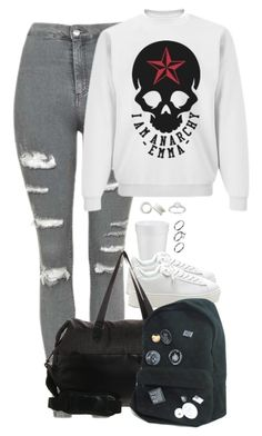 """Coming home."" by un-iversal ❤ liked on Polyvore featuring Topshop, Allurez, Pilgrim and adidas"