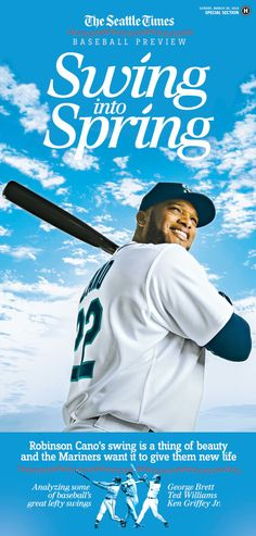 The Seattle Times baseball preview section cover: Nice, clean and simple.