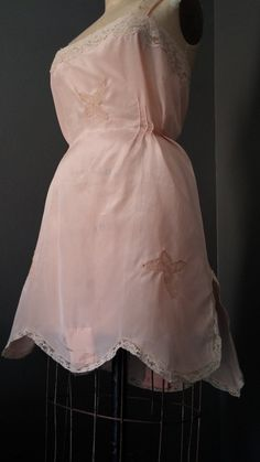 Antique Peachy Pink SILK Slip Romper 1920s FLAPPER by 1937DryGoods