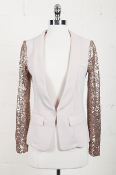 Sequin Sleeve Blazer