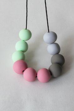 hand-made polymer clay beads