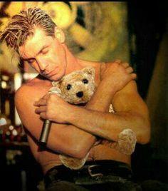 Rammsteins Till Lindemann with teddy bear
