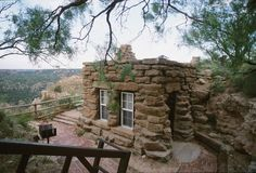 Stone cabins, Palo Duro Canyon State Park, TX