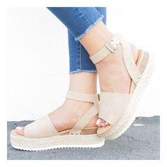 Beyond Chic Espadrille Platform Sandals