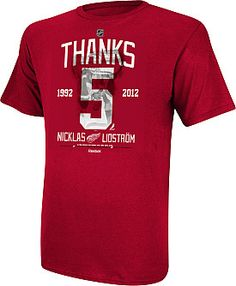 What's your all-time favorite Lidstrom memory?    Thank Lidstrom for his great career with this Reebok shirt