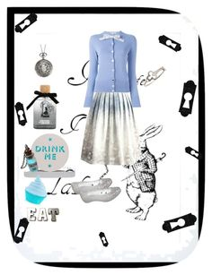 """""""Mad tea party"""" by sweanie on Polyvore featuring Eleanor Stuart, Disney, Chicwish, Marby & Elm, Olympia Le-Tan, Sian Bostwick Jewellery and Melissa"""