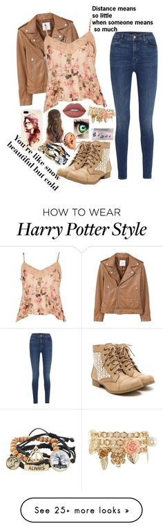 """""""Untitled #296"""" by lilydoa on Polyvore featuring Music Notes, MANGO, River Island, Charlotte Russe, J Brand, Warner Bros. and Lime Crime"""