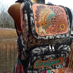 Leather Diaper Bags, Leather Bags, Leather Craft, Leather Purses, Tooled Leather Purse, Leather Tooling, Leather Working Patterns, Name Patches, Horse Stables