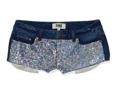 Who loves short shorts? The Bling Denim Short from Victoria's Secret PINK is a sunny day essential you're bound to reach for again and again. A super cute jean cutoff with sequins in a cheeky low-rise fit. Sparkle Shorts, Glitter Shorts, Pink Outfits, Summer Outfits, Cute Outfits, Teen Outfits, Summer Wear, Victoria Secret Outfits, Victoria Secret Pink