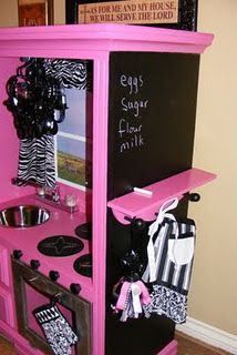 Finally found the originator of this DIY Play Kitchen- super cute!