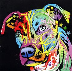 Landscapes Mixed Media - Angel Pit Bull by Dean Russo