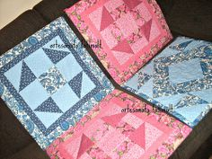 Almofadas-patchwork
