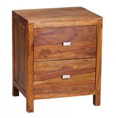 FineBuy sesham massif avec 2 tiroirs table de nuit - 50 x 40 x 60 cm  Amazon .fr  Cuisine   Maison 51de8c34e717
