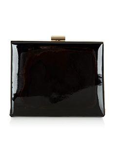 Patent Box Clutch Bag