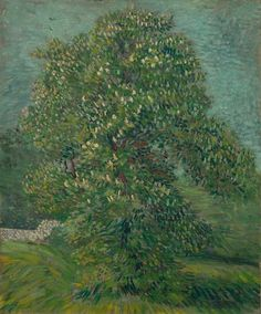 Art of the Day- Van Gogh, Chestnut Tree in Blossom, May 1887. Oil on canvas, 55.8 x 46.5 cm. Van Gogh Museum, Amsterdam..jpg