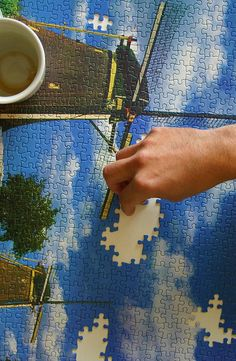 because we can savor blue skies while seeking the missing pieces to our personal puzzle.