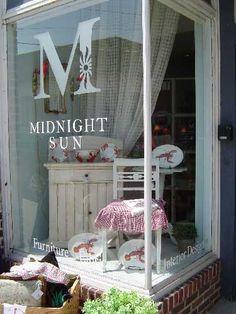 Midnight Sun. Furniture and tableware display.