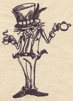 Mad Hatter   Urban Threads: Unique and Awesome Embroidery Designs