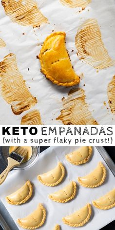 Traditionally a beautiful Argentinian delight, you'll find these gluten free and keto empanadas to be bursting with flavor and wrapped up in a flaky crust! Low Carb Meal Plan, Low Carb Dinner Recipes, Keto Dinner, Gluten Free Dinners, Desserts Keto, Keto Snacks, Plated Desserts, Best Keto Breakfast, Breakfast Recipes