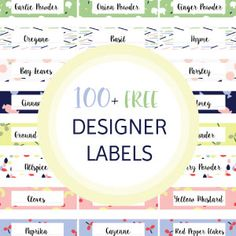 100  FREE Designer Pantry Labels To Add Spark To Your Kitchen And More