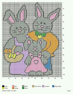 BUNNY FAMILY by JODY -- WALL HANGING 2/2