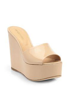 Sergio Rossi - Lakeesha Patent Leather Platform Sandals