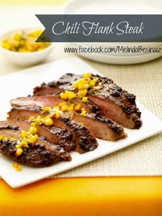 Flame Licked Chili Flank Steak on the Grill - 8 Mouthwatering Yet Healthy Grilling Recipes - Shape Magazine - Page 5 Healthy Grilling Recipes, Clean Eating Recipes, Beef Recipes, Healthy Eating, Cooking Recipes, Grill Recipes, Healthy Meals, Healthy Food, Recipies