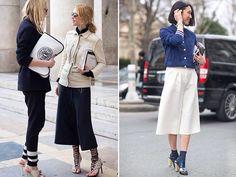 #black culottes #white culottes
