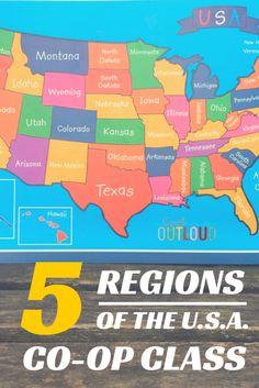 5 Regions of the U.S.A. Co-Op Class