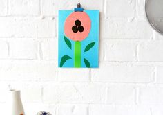 'Flower' Riso Print (Inc. P+P) via Colourbox Boutique. Click on the image to see more!