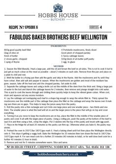The Fabulous Baker Brothers: Beef Wellington - Hobbs House Bakery - Episode 6 Butter Puff Pastry, Beef Recipes, Cooking Recipes, Beef Fillet, Savoy Cabbage, Bakery Supplies, Cabbage Leaves, Beef Wellington, Bakery Recipes
