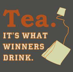 Winners drink tea...