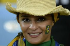 world cup brazilian flag tattoo on face for fans - brasil world cup Face Tattoos, Fifa World Cup, Samba, Cowboy Hats, Tattoo Designs, Fans, Shopping, Design Ideas, World Cup Fixtures