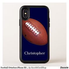 Shop Football Otterbox iPhone XS Max Case created by SocolikCardShop. Cool Gifts, Best Gifts, Gift Guide For Men, Football Design, Football Players, Gifts For Him, Holiday Cards, Iphone Cases, Typography