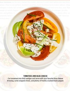 Tomatoes and Blue Cheese | Bon Appetit