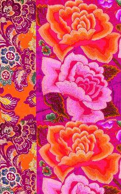 pink and orange floral design (coquidv)