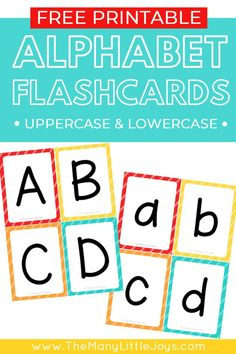 Make learning the ABCs fun with these free printable alphabet flashcards. This set includes separate cards for uppercase and lowercase letters, giving you endless possibilities for how to learn with your child. Free Printable Alphabet Letters, Letter Flashcards, Abc Printable, Printable Flashcards, Teaching The Alphabet, Alphabet For Kids, Preschool Alphabet, Alphabet Crafts, Kids Abc