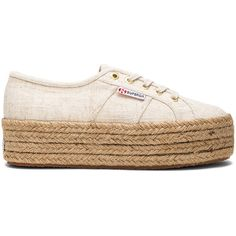 Superga 2790 Sneaker ($78) ❤ liked on Polyvore featuring shoes, sneakers, lacing sneakers, rubber sole shoes, platform shoes, lace up sneakers and laced sneakers
