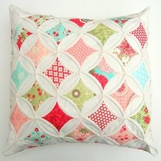Pretty patchwork cushion #patchwork #home