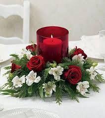 Resultado de imagen para centro de mesa para boda rojo